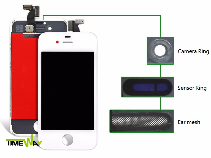 Transparent LCD replacement motherboard for apple iphone wholesale for iphone 4S lcd digitizer