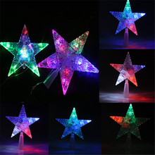 New Top Sale Changing Colorful Christmas mas Tree Topper Star Light LED Lamp Indoor Outdoor Decoration