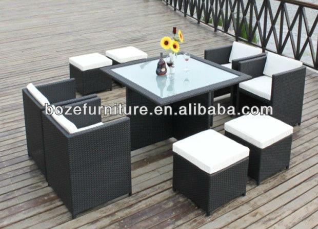 MUEBLE JARDÍN MOBILIARIO RATTAN MIMBRE / mesa de comedor y una silla ...