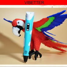 3D-P02 3D Stereo drawing pen Stereoscopic Printer Pen for 3D Drawing , Arts , Crafts Printing for Children Present