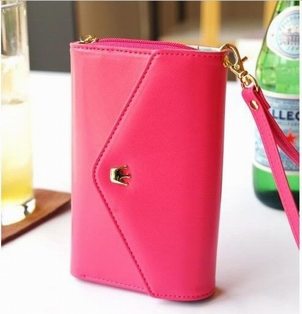 Hot Selling High Quality New PU Leather Crown Smart Pouch Wallet Case For iPhone 5 5g 5th