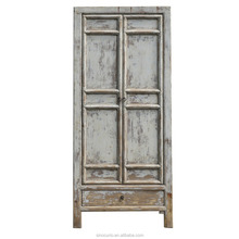 Chinese antique restoration classical shabby chic furniture clothes cabinet wardrobe