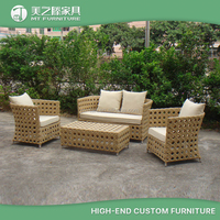 Wholesale modern special rattan furniture wicker cube outdoor sofa set