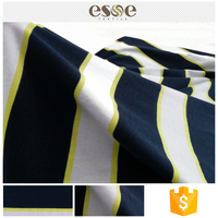 Elastic clothing printed striped 100%cotton fabric