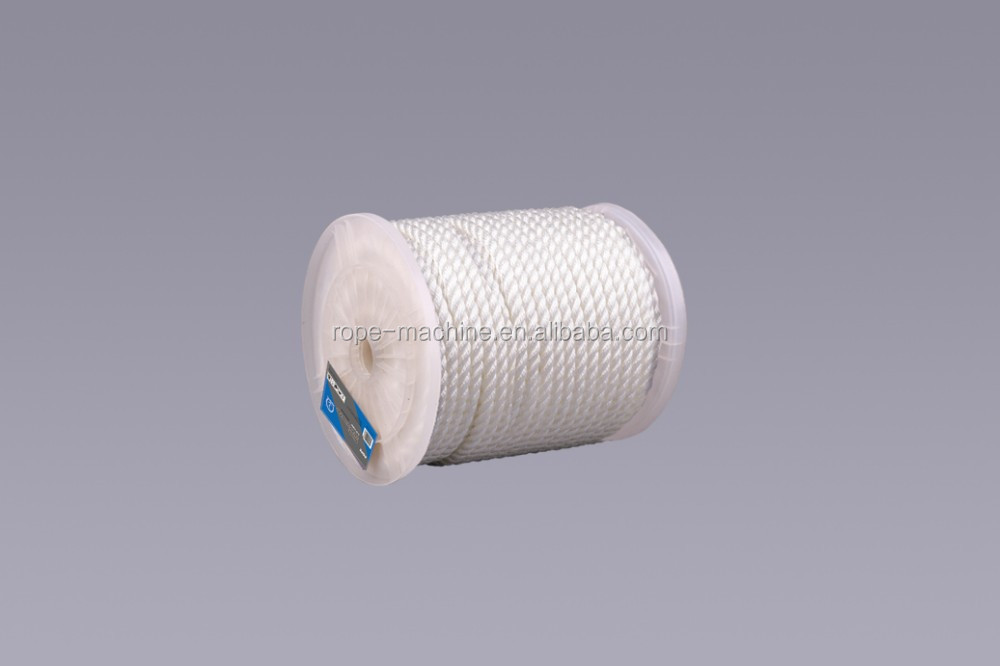 3 strands twisted polyester rope