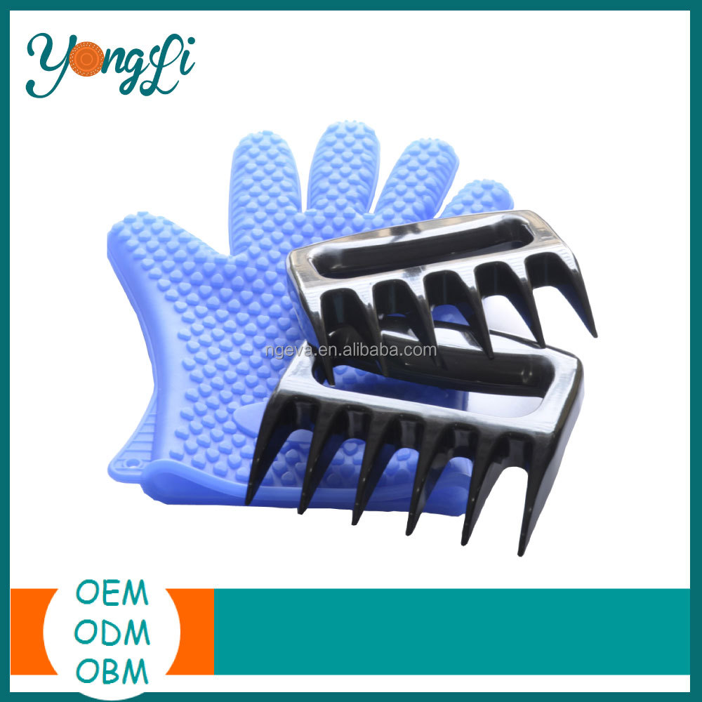 Hight Quality Silicone Gloves Meat Claws Plastic Cutting Claws