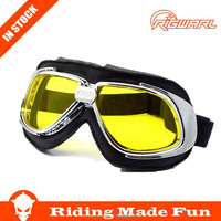 HC Hot Selling Outdoor Sports Protective Safety New Harley Goggles With OEM Service on Straps