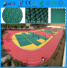 High quality and colorful free design indoor and outdoor pp plastic basketball flooring price