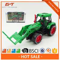 Plastic friction toy car farm tractor truck for sale
