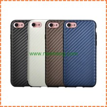 High quality Carbon Fiber Ultra thin Soft TPU Back Cover Case For iPhone7