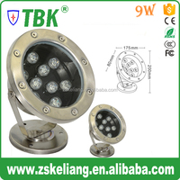 Best price 9W led underwater lamp,12/24v led swimming pool lighting,waterproof marine led light