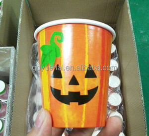 2016 Hot Halloween Decoration Disposable Paper Cups