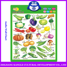 Voiced wall chart arabic language vegetables charts
