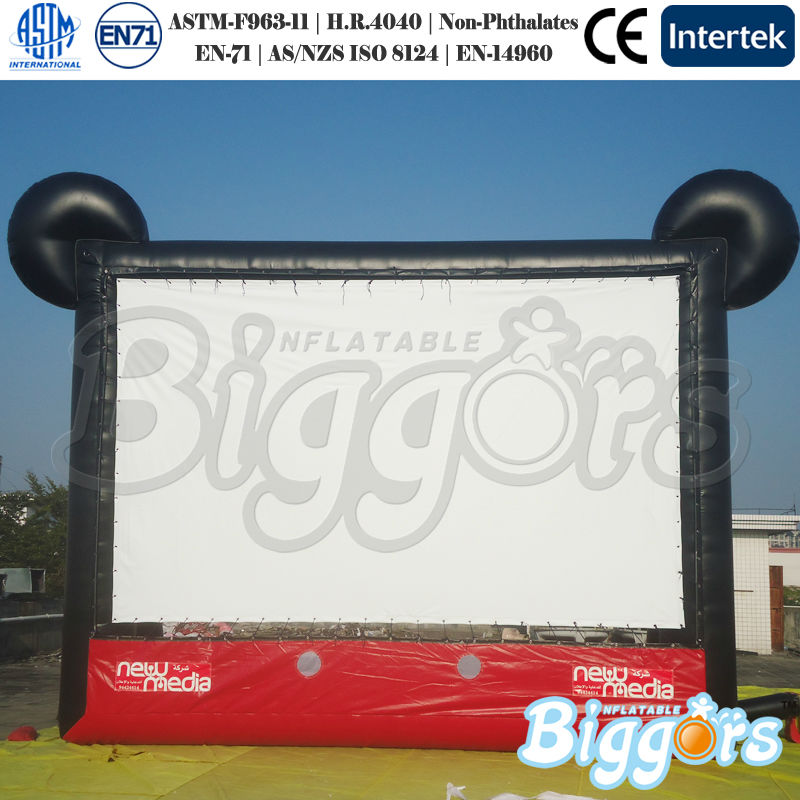 PVC Commercial Screen Inflatable Advertising Display Movie Screen