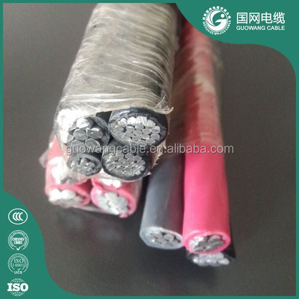 Overhead Power Transmission Used Xlpe Twisted Aluminum Abc Cable