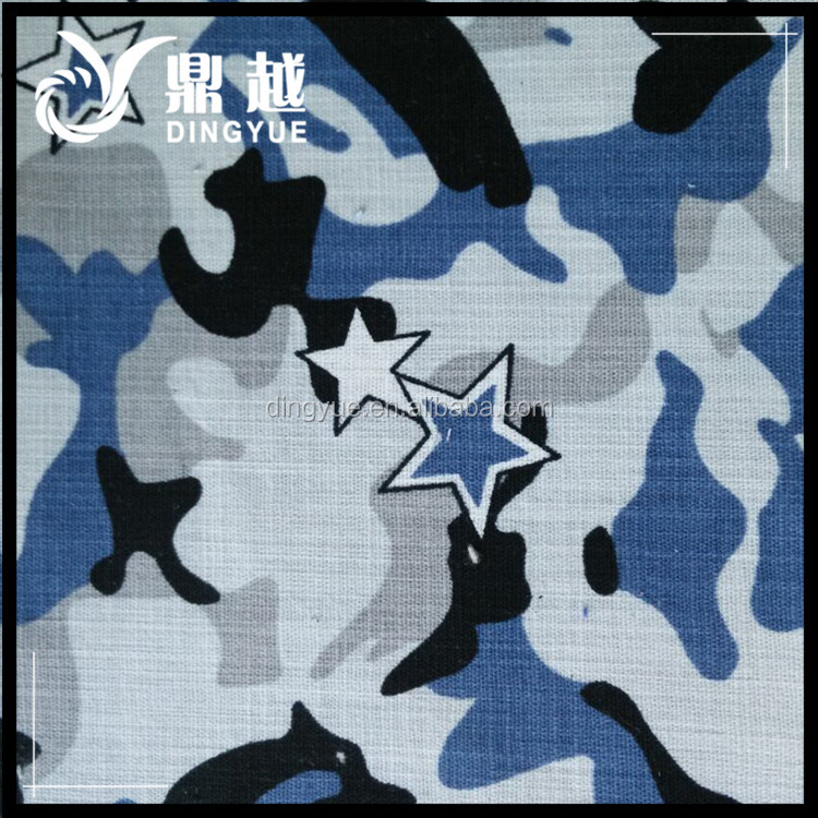 Hot Sale Imitation Linen Slub Printing Fabric For Cloth