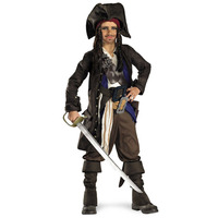 Pirates of the Caribbean Cosplay Jack Sparrow Women's Dress Performance Wear Fancy Dress Halloween Costumes for adult men