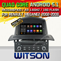 WITSON Android 5.1AUTO CAR DVD GPS For RENAULT MEGANEII 2005-2009 WITH CHIPSET 1080P 16G ROM WIFI 3G INTERNET DVR SUPPORT