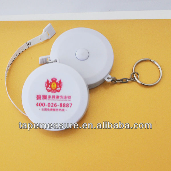 79inch/2m mini round custom key chain tape measure gift upon Your Design and Logo
