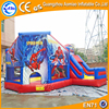Aewsome jumping inflatable slide spiderman bounce house, inflatable slide & castle combo