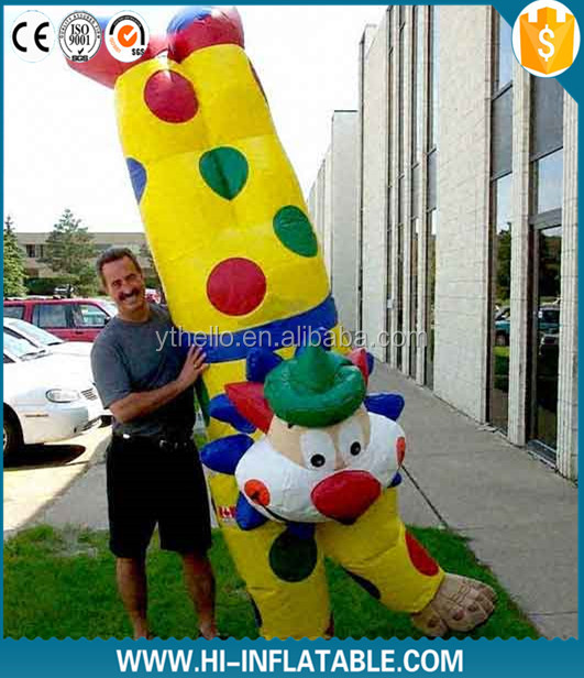 2015 popular advertising inflatable clown cartoon,inflatable moving clown cartoon