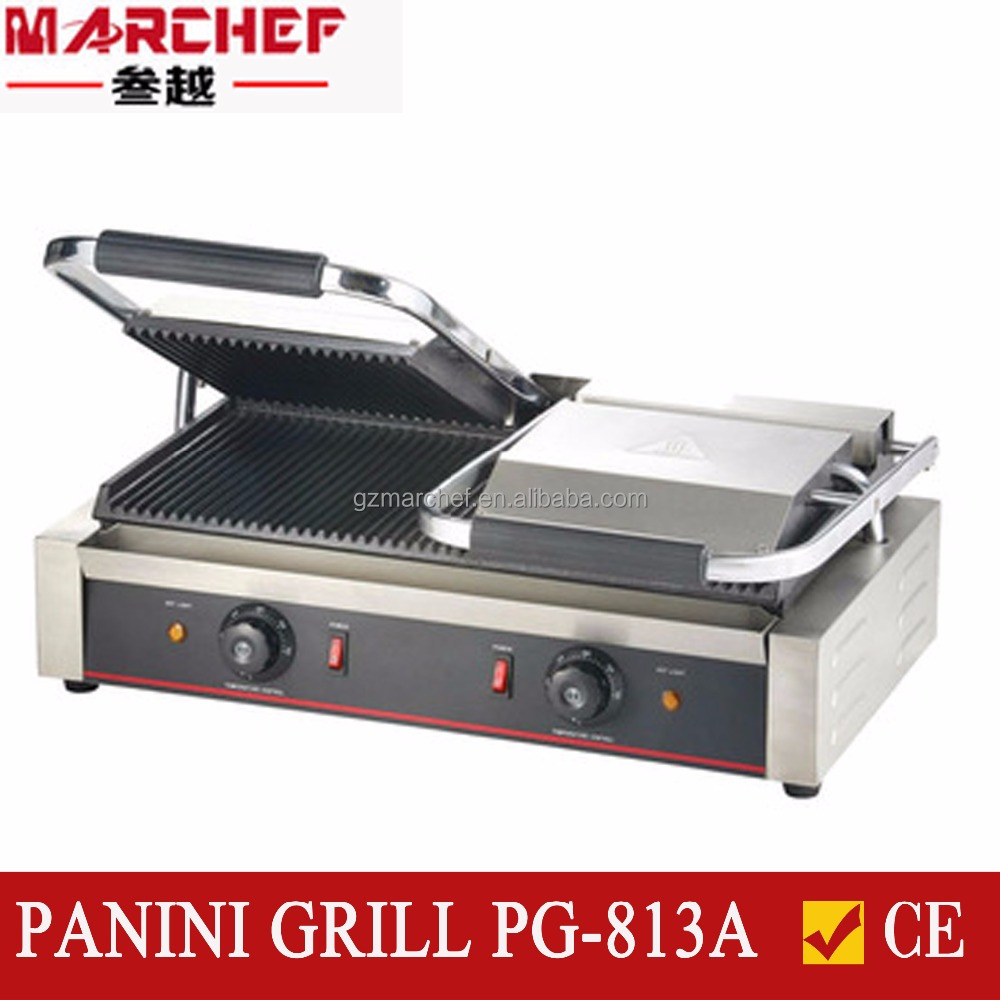 PG-813A Double Commercial Electric sandwich press contact/panini grill/beef maker