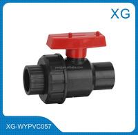 PVC ball union valve/Long handle 4 inch plastic male female union ball valve