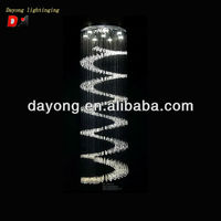 2013 new design silver luxury crystal ceiling light chandelier light for hotel/hall/villa DY3310