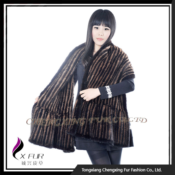 CX-B-<strong>M</strong>-<strong>103</strong> 2017 New Disign Knit Mink Fur Cheap Wholesale Arabic Shawl