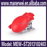 Pharmacy heart shaped school decorative office stationery handi floral stapler