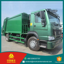 straight-6 cylinders howo 290HP waste compactor trucks / 4*2 garbage truck