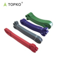 TOPKO wholesale natural Eco-friendly Sports Fitness gym Exercise stretch latex loop Resistance Band