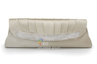 New Product Korea Style High Class Silk Austria Beaded Material Evening Clutch Bag Women Bags