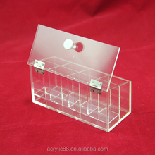 Clear acrylic tea bag box with dividers / acrylic tea bag organizer