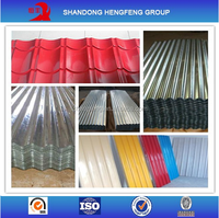 Zinc Color Coated Corrugated Roofing Metal Sheet