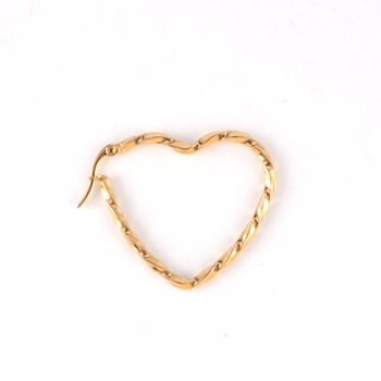 2017 stainless steel heart shaped gold earrings studs piercings for women