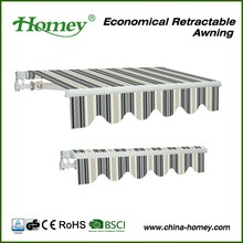garden furniture Zhejiang Homey metal roof awning