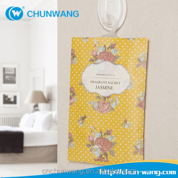 Wholesale high quality good price aroma scent fragrance sachet hanging car air freshener bag
