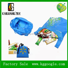 Fashion printing portable eco bag Waterproof nylon folding reusable bags travel big shopping bags