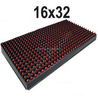 Semi outdoor P10 Red Color 32X16 Pixels Led Panel Module Board P10 LED Module