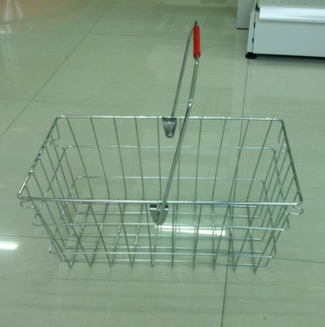 Single Handle Metal Chrome Wire Supermaket Shopping Basket for Storage YD-MA020