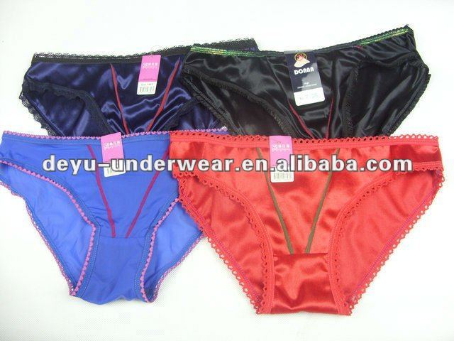 0.16USD 6 Different Colours Nylon Spandex Thong Panties,10% Discount On 20000(kcnk027)