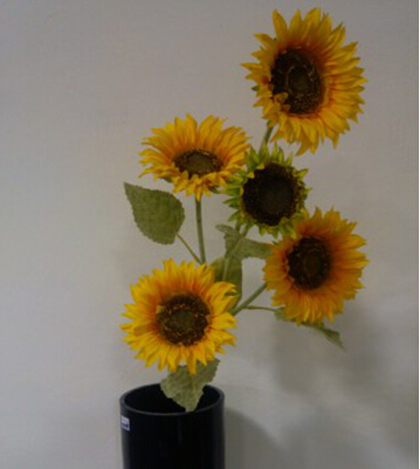 solar powered brown artificial sunflowers