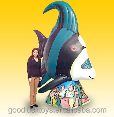 Giant10 Ft. Tall Inflatable Green Angel Fish/Giant Inflatable Animals