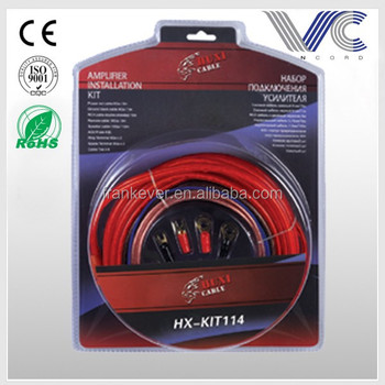 Factory price Copper Transparent Red 8AWG auto wiring kit