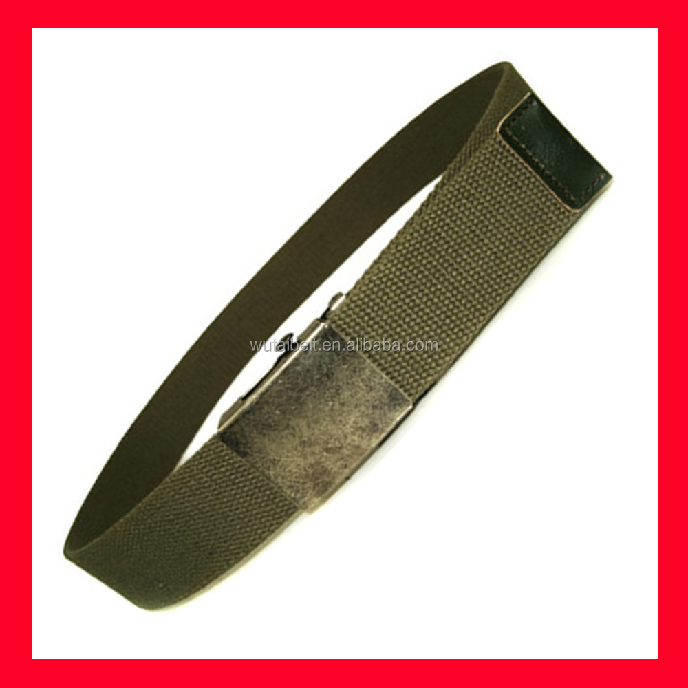 military green pp cotton nylon classic promotional fabric golf belt