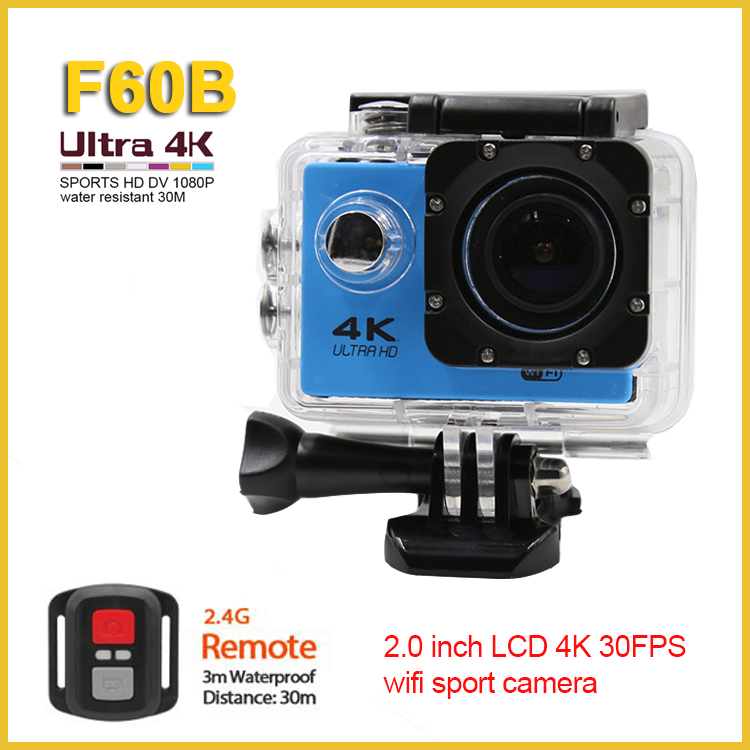 Wireless wifi 4k 24fps digital camera hd mini sport dv 1080p manual 170 degree lens 2.0 inch LCD 4k wifi sport camera
