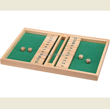 1002,Wooden double 12 shut the box game