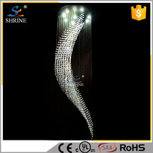 Giant European Style Large Hotel Modern Lightings Crystal Chandelier From China