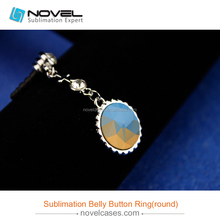 Sublimation blanks belly button ring, around shaped belly chain
